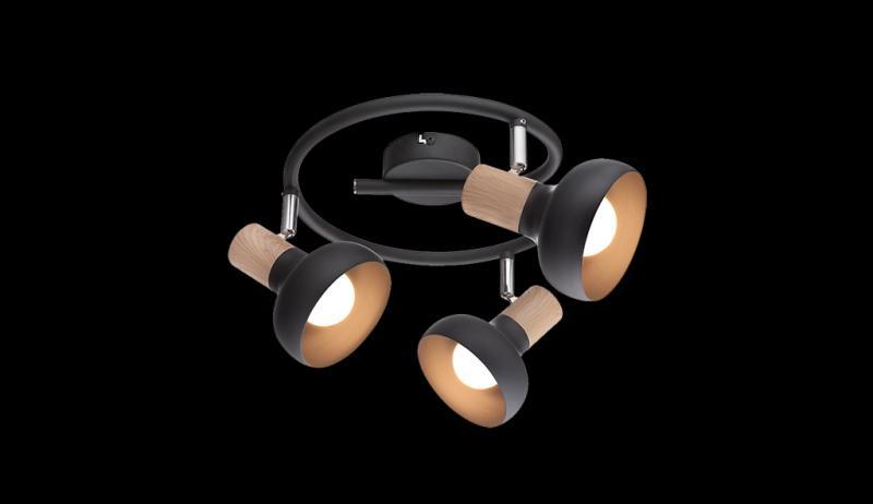 3xE14 LED Fali Lámpatest Fehér és Fekete kivitelben