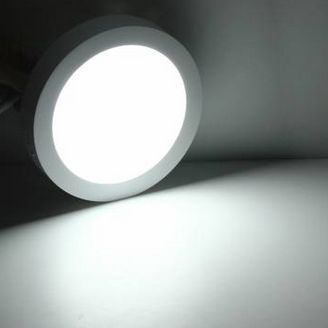 15W LED mennyezeti lámpa, falon kívüli kerek hideg fehér