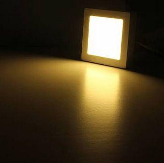 6W meleg fehér mennyezetbe süllyeszthető négyzet LED panel