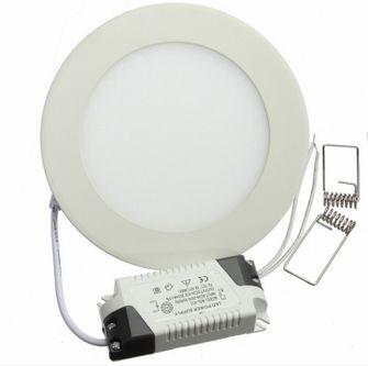6W meleg fehér mennyezetbe süllyeszthető kerek LED panel