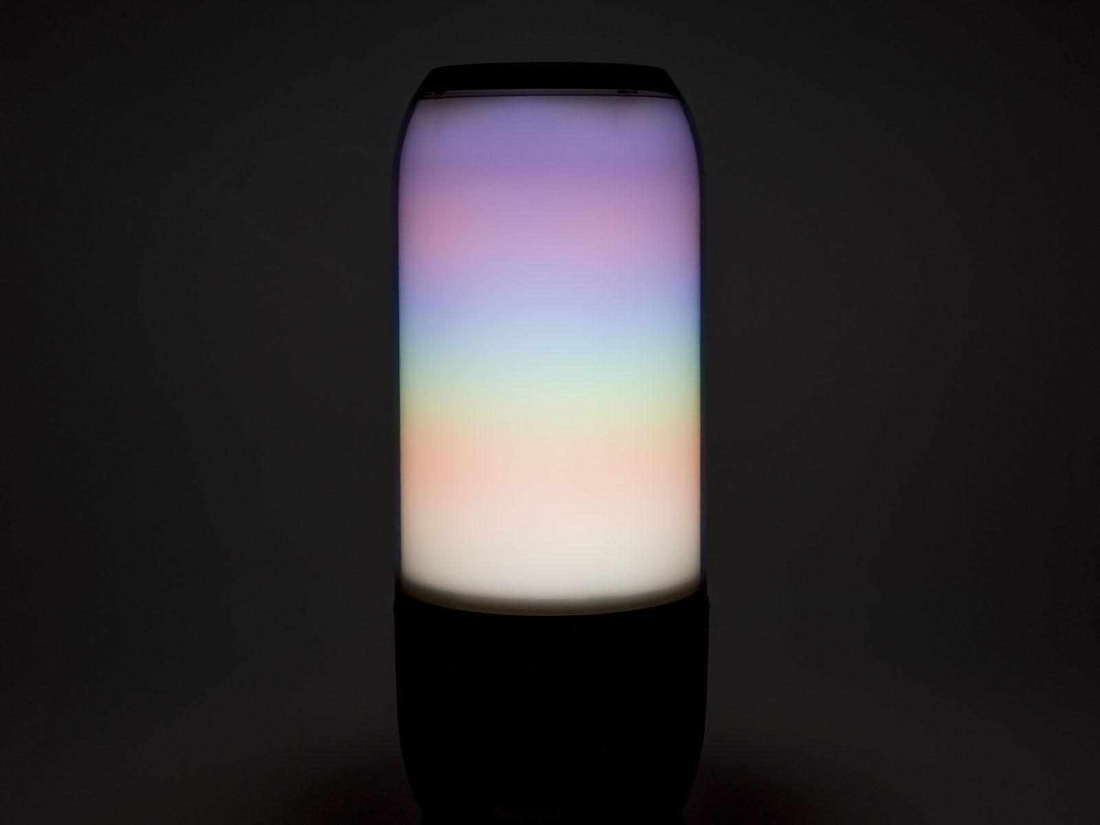 Bluetooth hangszóró, RGB, akkus USB asztali lámpa (2x3W) - fekete