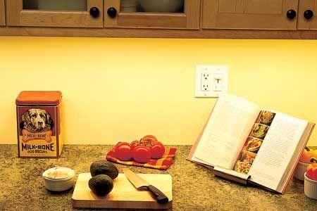 4W LED konyhai pultvilágítás 30cm-es meleg fehér