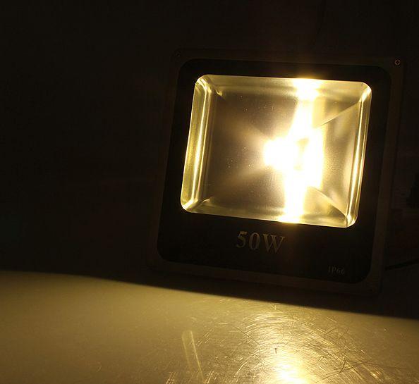 50W COB LED FÉNYVETÕ reflektor meleg fehér IP65 vízálló 4450 lumen
