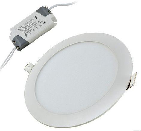 24W hideg fehér mennyezetbe süllyeszthető kerek LED panel