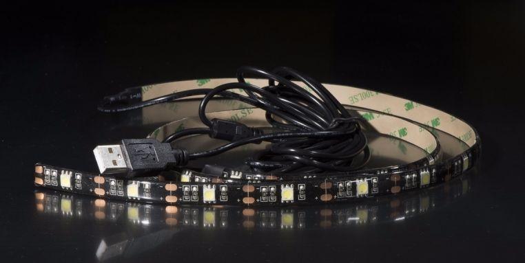 LED TV háttérvilágítás 2x50cm hideg fehér
