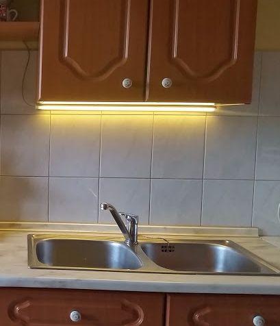 1m-es Konyhapultvilágítás Sarok Profil Csomag Extra Erős Meleg Fehér LED szalaggal