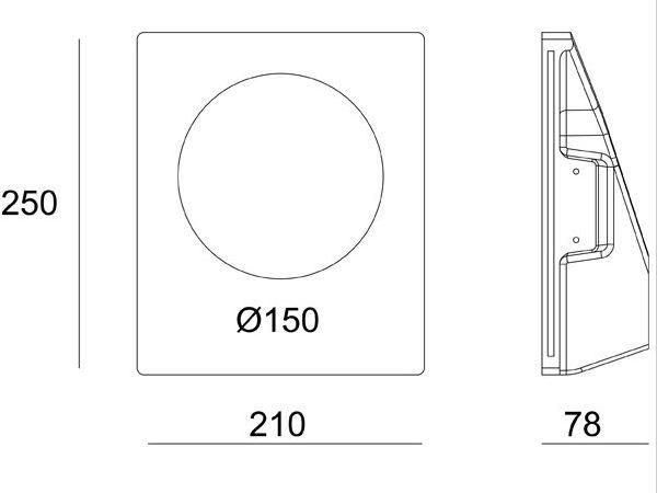 Mennyezetbe süllyeszthető asszimetrikus 210x250mm ovális festhető GIPSZ LED lámpatest MR16 és GU10 LED spothoz