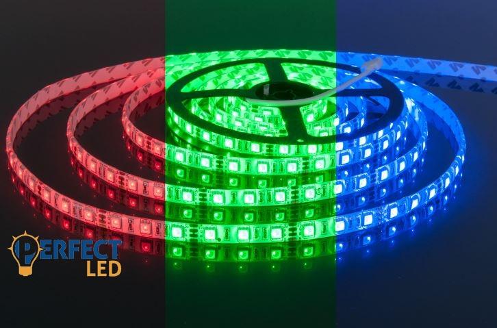 LED szalag 60 SMD LED/m RGB színes kültéri (IP65)