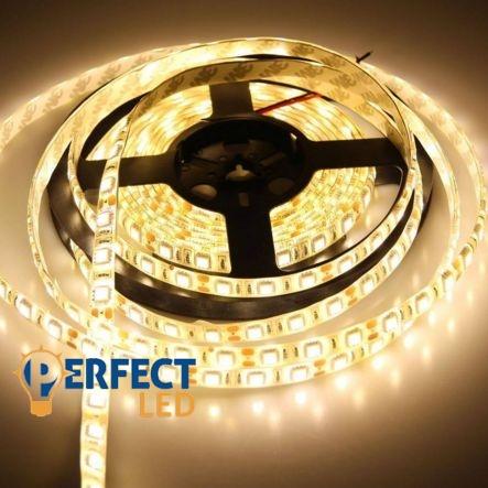 LED szalag 60 led/m 5050 extra erõs IP65 kültéri melegfehér
