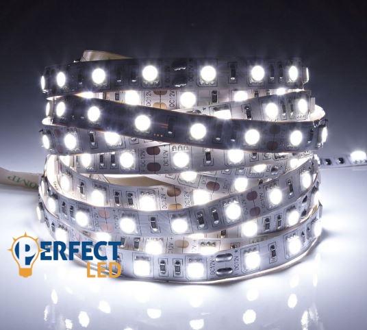 LED szalag 60led/m 14,4W erõs beltéri hidegfehér