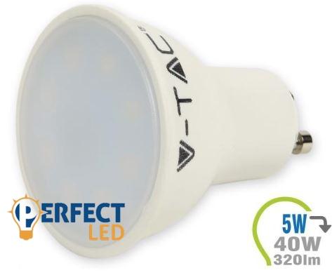 5W GU10 LED spot égő meleg fehér
