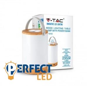 Asztali LED lámpa+töltő 6W