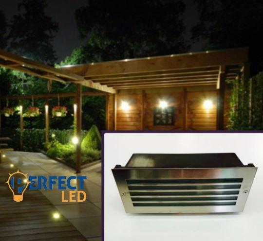 E27-es kültéri 12W-os fali süllyeszthető lámpa