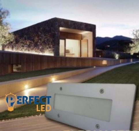Kültéri LED lépcsővilágítás melegfehér
