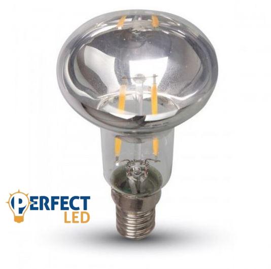 2W E14 R39 LED filament égő meleg fehér