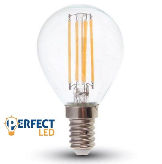 4W E14 LED filament kisgömb égő hideg fehér