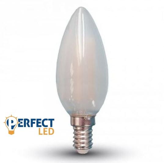 4W E14 LED filament gyertya égő hideg fehér