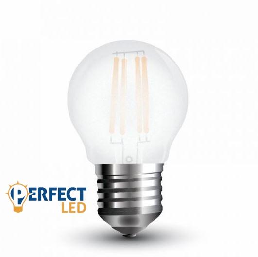 4W E27 LED filament kisgömb égő természetes fehér