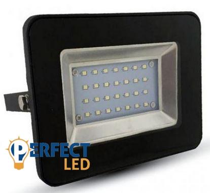 20W fekete prémium vékony házas LED reflektor hideg fehér