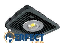 50W COB LED utcai közvilágítási lámpatest sötétszürke hidegfehér