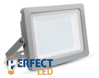 100W fehér prémium vékony házas LED reflektor természetes fehér