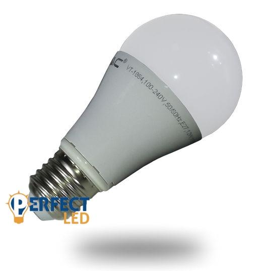 10W E27 LED körte izzó, égő 200° hideg fehér
