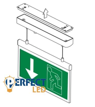 LED exitlámpa vészkijárat jelző 2W-os