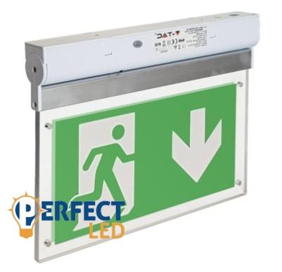 Mennyezeti LED vészkijáratjelző exitlámpa 2W-os