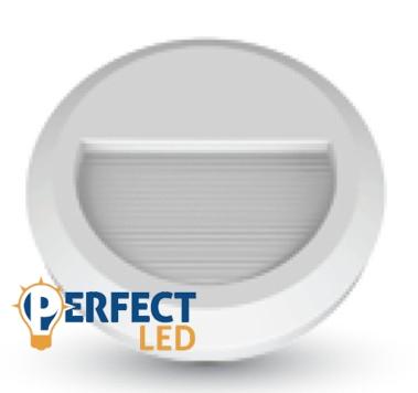 2W LED lépcsővilágító lámpa fehér