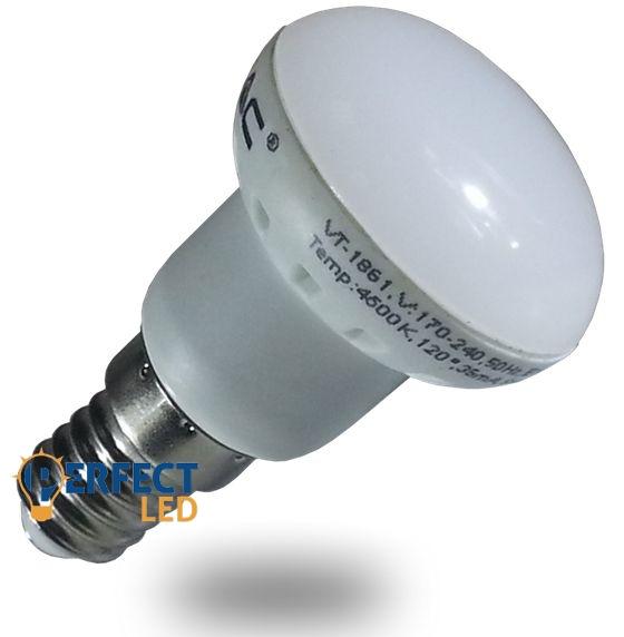 3W E14 LED izzó, égő R39 fejjel meleg fehér