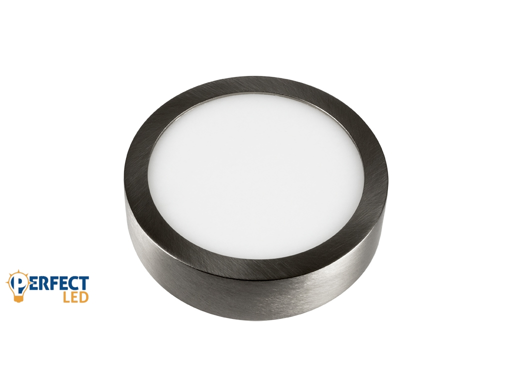 6W Falon Kívüli Matt Króm LED Panel Hideg Fehér