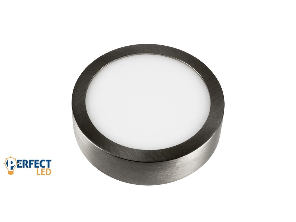 6W Falon Kívüli Matt Króm LED Panel Meleg Fehér