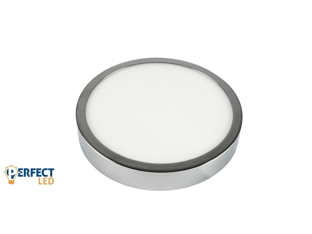 12W Falon Kívüli Fényes Króm LED Panel Meleg Fehér