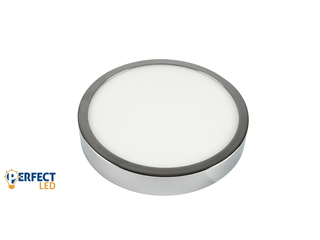 12W Falon Kívüli Fényes Króm LED Panel Természetes Fehér