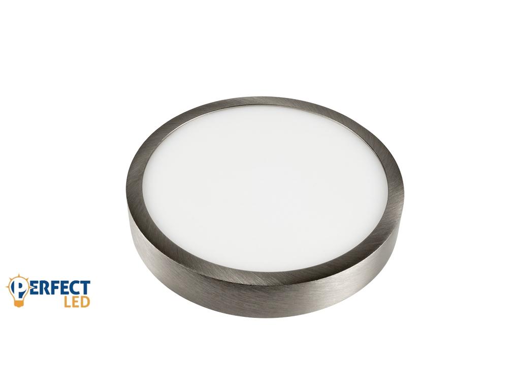 12W Falon Kívüli Matt Króm LED Panel Természetes Fehér