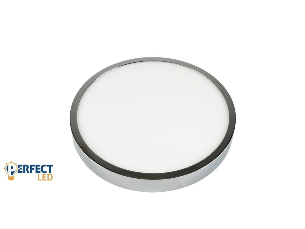 18W Falon Kívüli Fényes Króm LED Panel Meleg Fehér