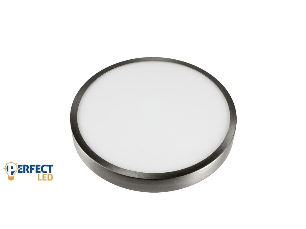 18W Falon Kívüli Matt Króm LED Panel Természetes Fehér
