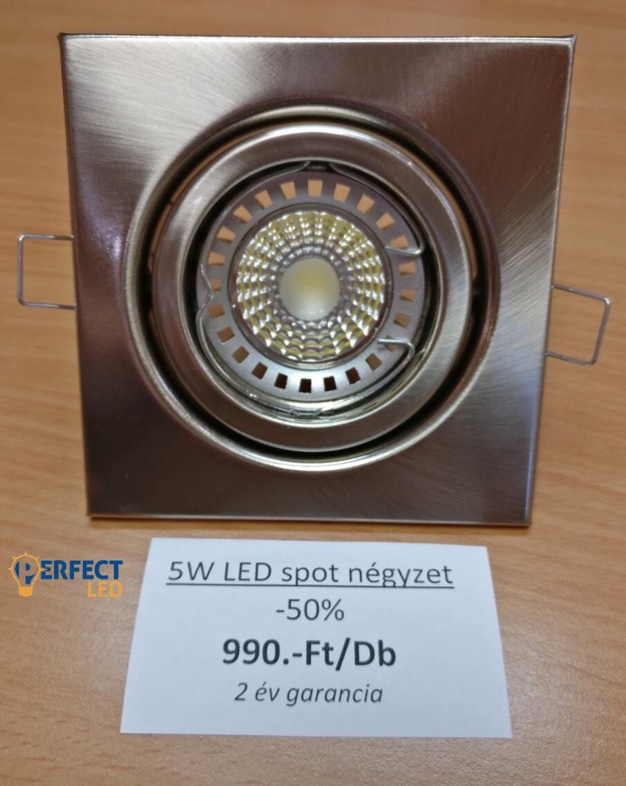 AKCIÓ 5W-os Dupla LED Spot Égő Kocka Billenthető Kerettel -50%