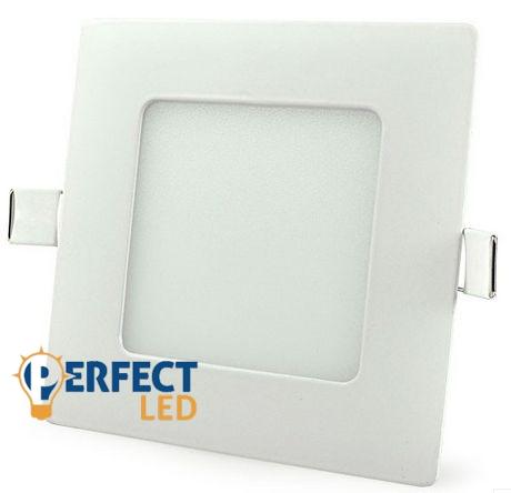 6W hideg fehér mennyezetbe süllyeszthető négyzet LED panel