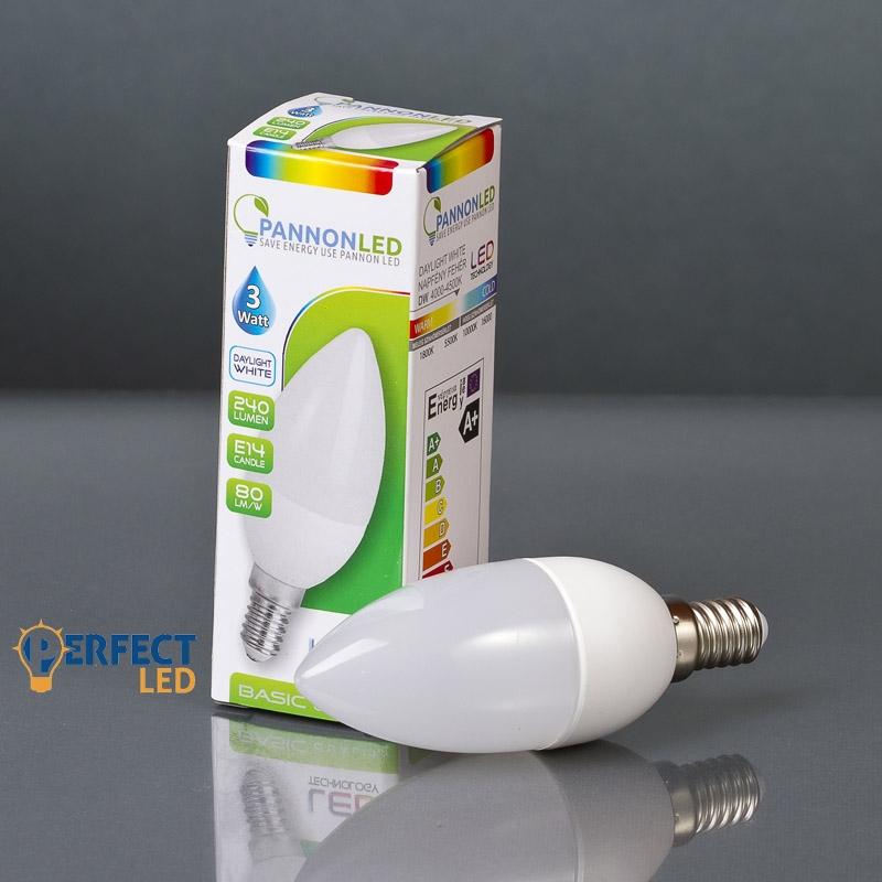 3W E14 LED gyertya izzó, égő természetes fehér