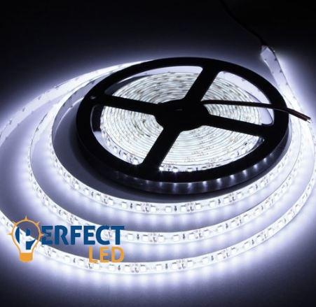 LED szalag 120led/m 3528 9,6W IP65 kültéri hideg fehér