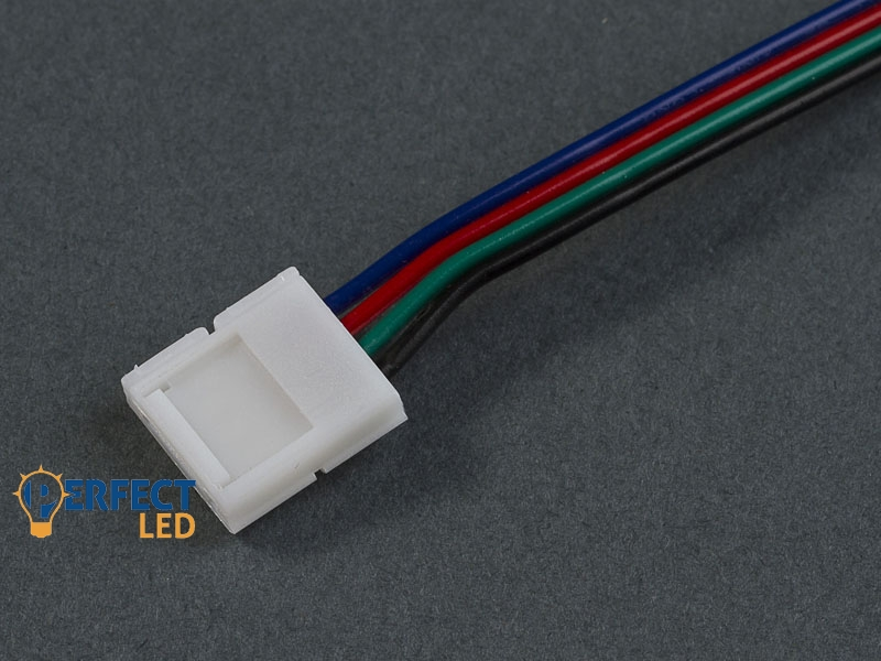 Betáp kábel (15cm) 5050 RGB LED szalaghoz 10mm