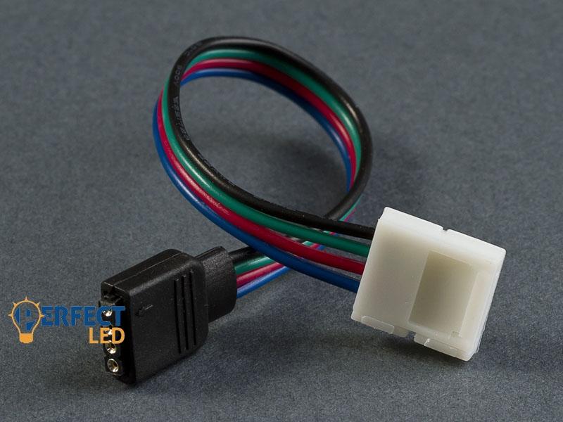 Betáp kábel (15 cm) 5050 RGB LED szalaghoz - 4 PIN RGB csatlakozó (anya)