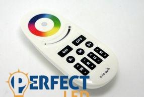 Group control RGB(W) 4 csatornás csoport vezérlő (Zóna) Távirányító - 2,4G, Touch+9 gomb
