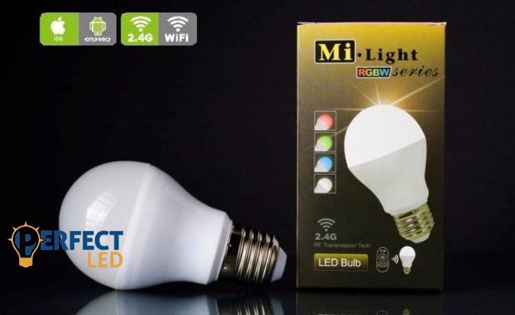 E27 6W RGBW színes wifis LED körte égő