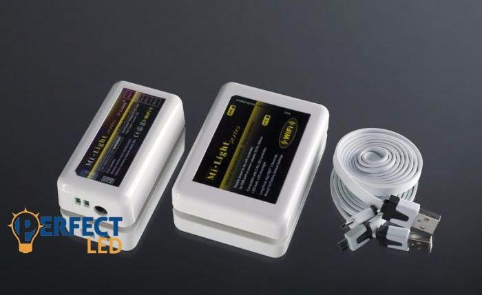 Wifi RGB jeladó + 1 db dimmer vezérlő 5V USB  (android, IOS)