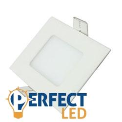 3W meleg fehér mennyezetbe süllyeszthető négyzet LED panel