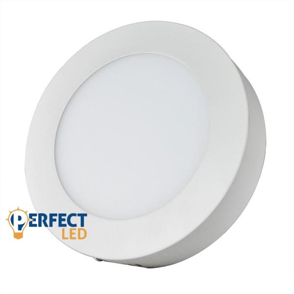 12W LED mennyezeti lámpa falon kívüli kerek hideg fehér