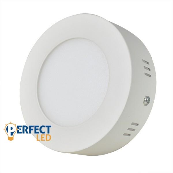 6W LED mennyezeti lámpa falon kívüli kerek hideg fehér