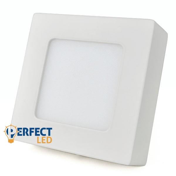 6W LED mennyezeti lámpa falon kívüli négyzet hideg fehér